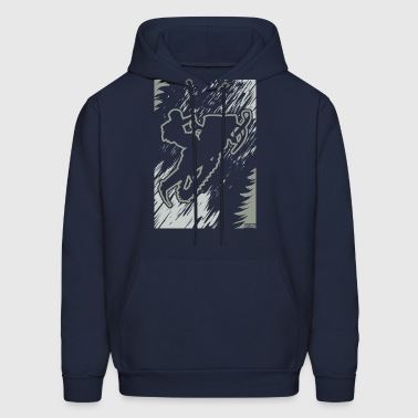 Snowmobiling Forest Run - Men's Hoodie