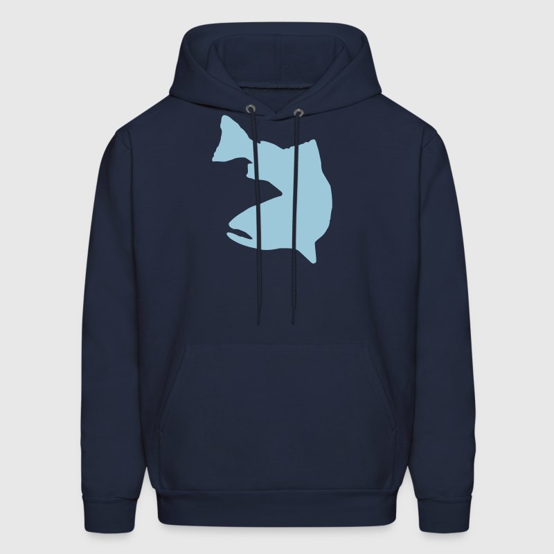 Vector Graphic - Trout Logo - Men's Hoodie