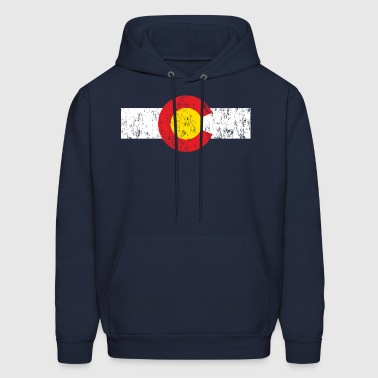 Vintage Colorado Flag - Men's Hoodie