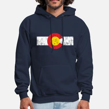 Colorado Vintage Colorado Flag - Men's Hoodie