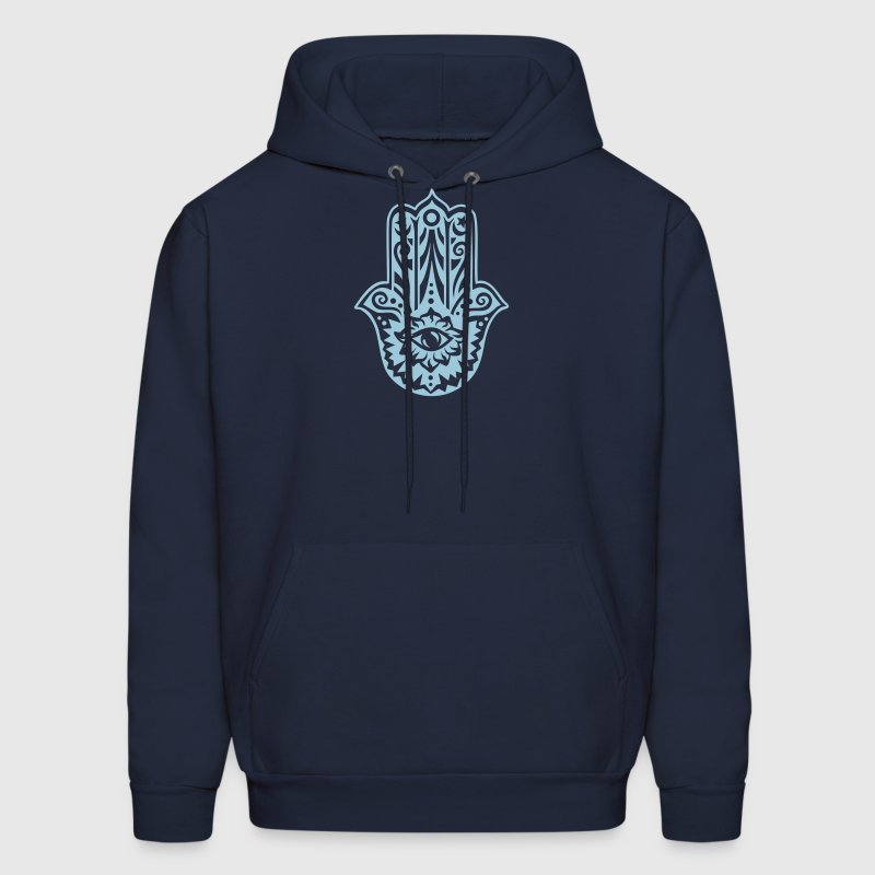 Hamsa Amulet, Hand of Fatima, Divine Protection - Men's Hoodie