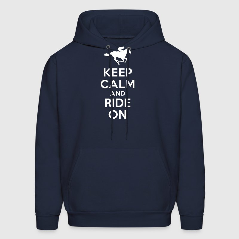 Keep calm and ride on Horse - Men's Hoodie