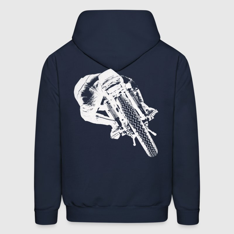 Cafe Racer rear view - Men's Hoodie
