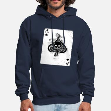 Playing Card Skull card - Men's Hoodie