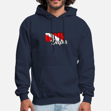 DIVE DEEPER Diving/Tauchen/busseig/Mergulho/Buceo - Men's Hoodie
