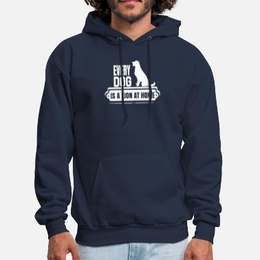 Lion Dog every dog is a lion at home - Men's Hoodie