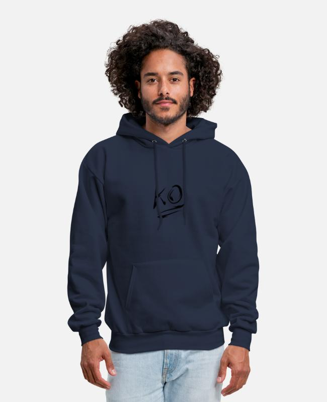 Knocked Hoodies & Sweatshirts - KO knock Out - Men's Hoodie navy