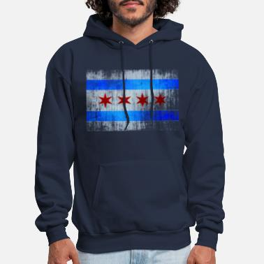 Illinois State Flag Women Sweatshirts Classic Hoodies Pullover Tops with Pockets