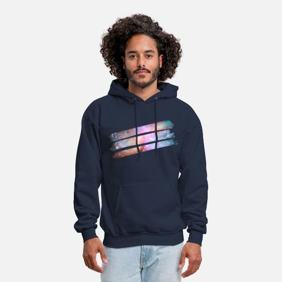 Cool Hoodies & Sweatshirts - Cosmic Paint - Men's Hoodie navy