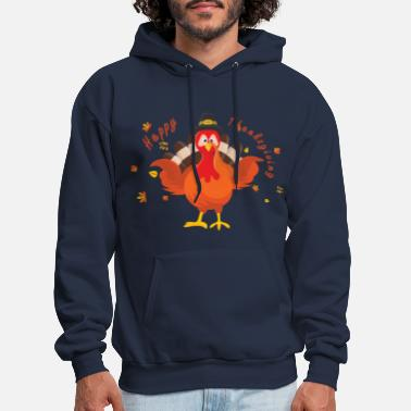 Thanksgiving Turkey Funny Thanksgiving Turkey ,Happy Thanksgiving Day - Men's Hoodie
