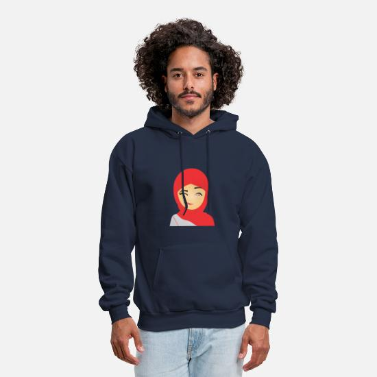 Arabic Hoodies & Sweatshirts - Arab Lady - Men's Hoodie navy