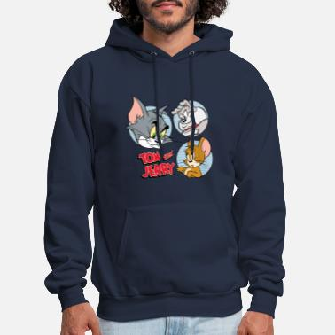 Tom Tom and Jerry Spike, Tom and Jerry Tiles - Men's Hoodie