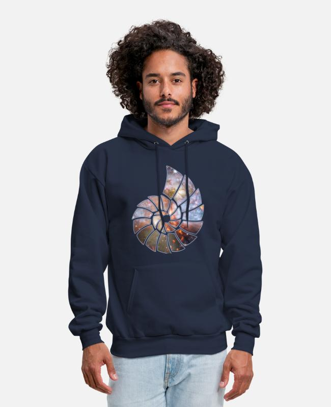 Hipster Hoodies & Sweatshirts - Cosmic Spiral - Men's Hoodie navy