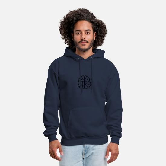 Brain Hoodies & Sweatshirts - Brain - Men's Hoodie navy