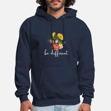 be different sunflower rose beautiful autism - Men's Hoodie