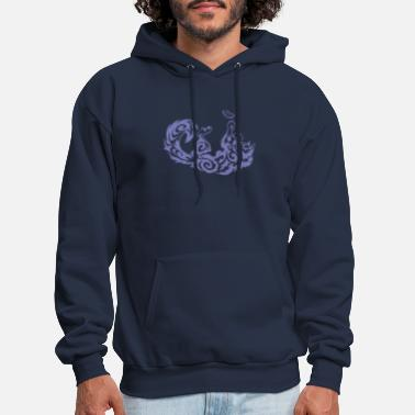 Tribal Tattoo Playful Cat Feather Tribal Queen Retro Outdoor - Men's Hoodie