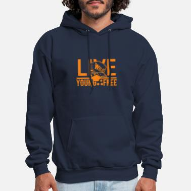 LIVE YOUNG ,WILD AND FREE T-SHIRT DESIGN - Men's Hoodie