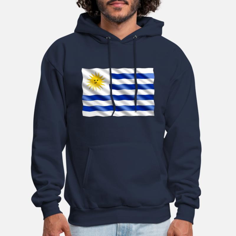 Flag Pride Nationality  Hoodie Pullover Uruguay Soccer Crest