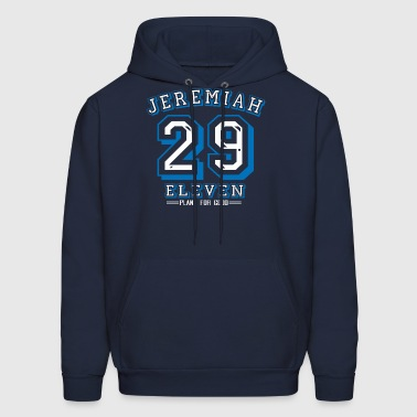 Jeremiah 29:11 Blue/White Design - Men's Hoodie