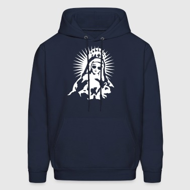 Virgin Mary with a pair of sunglasses - Men's Hoodie