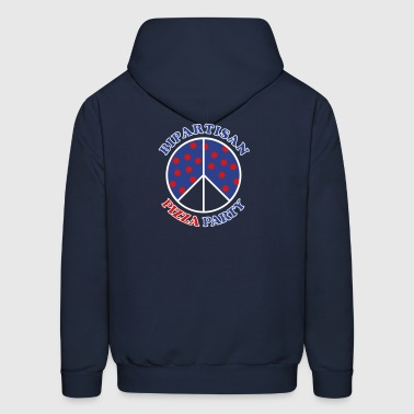 Bipartisan Pizza Logo - Men's Hoodie