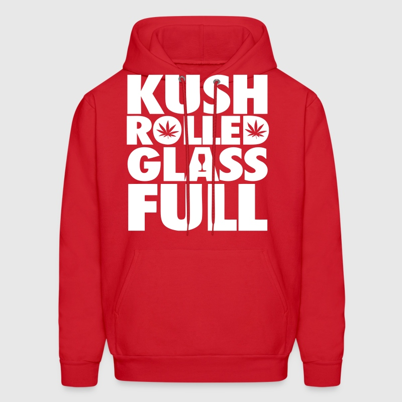 Kush Rolled Glass Full - Men's Hoodie