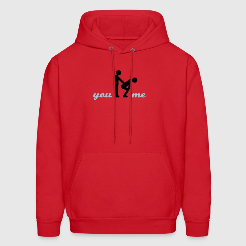 gay guys bottom - Men's Hoodie