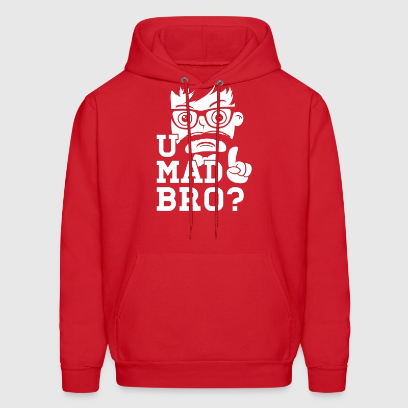 Like a swag cool u mad story bro moustache style - Men's Hoodie