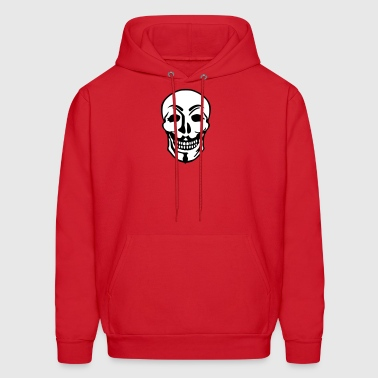 Anonymous and skull pirate symbol - Men's Hoodie