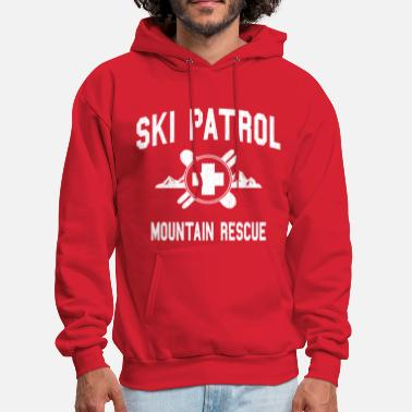 Utah Ski Patrol - Mountain Rescue (vintage look) - Men's Hoodie