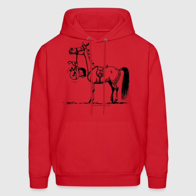 Stubborn Pony Thelwell Cartoon - Men's Hoodie