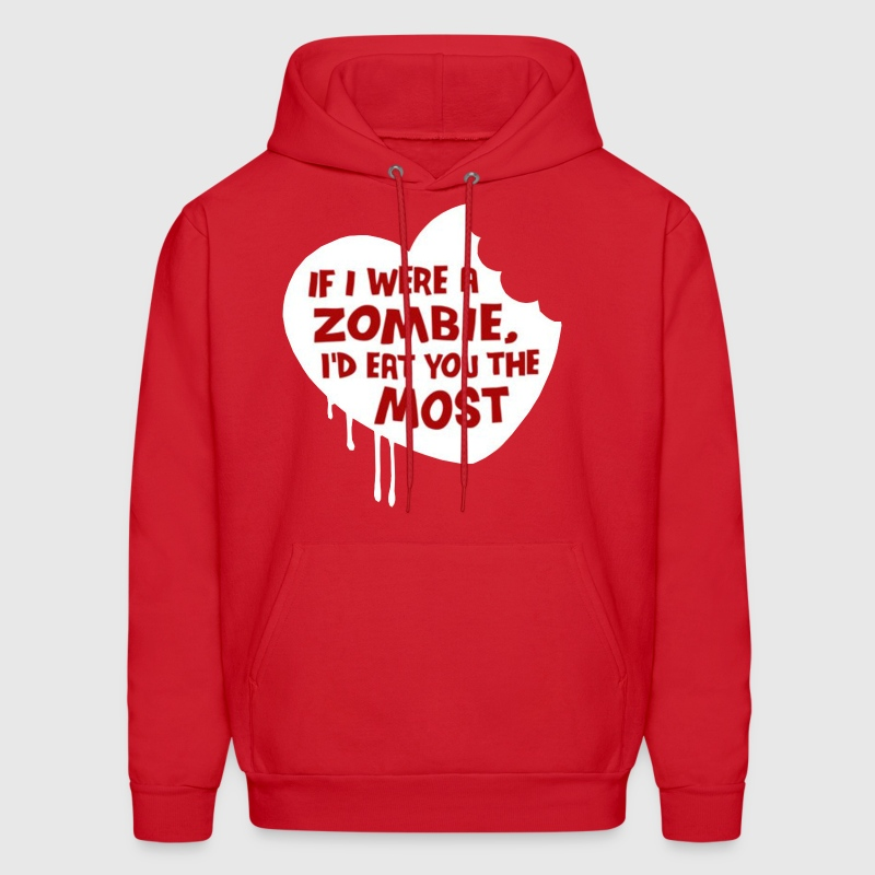 If i were a zombie... - Men's Hoodie