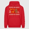 Ugly Christmas Sweater: Bite Me Gingerbread Man  - Men's Hoodie