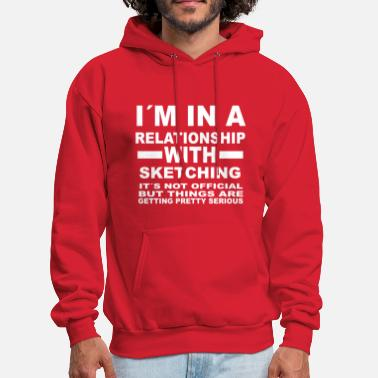 Sketch relationship with SKETCHING - Men's Hoodie