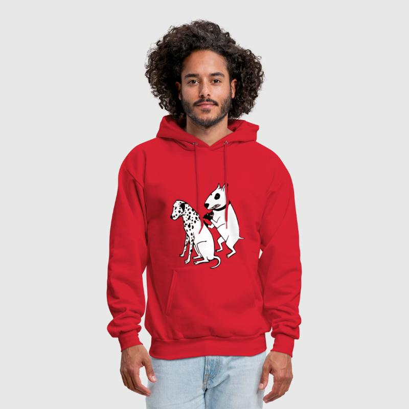 DALMATIAN DOG, TATTOO - Men's Hoodie