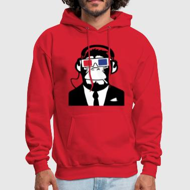 3D Ape Monkey Club Electro Motive Headphones  - Men's Hoodie