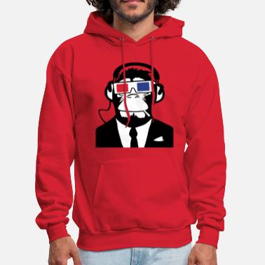 Cool 3D Ape Monkey Club Electro Motive Headphones  - Men's Hoodie