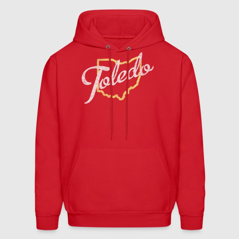 Toledo Script Ohio Outline Apparel Clothing Shirts - Men's Hoodie