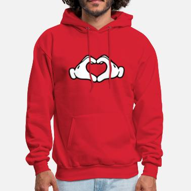 Hands Mickey LOVE hands - Men's Hoodie