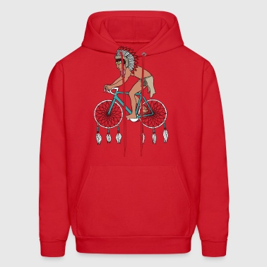 native american with dream catcher wheels - Men's Hoodie
