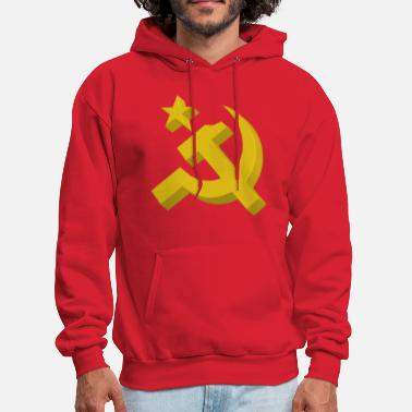 Communism Hammer Sickle 3D Commie - Men's Hoodie