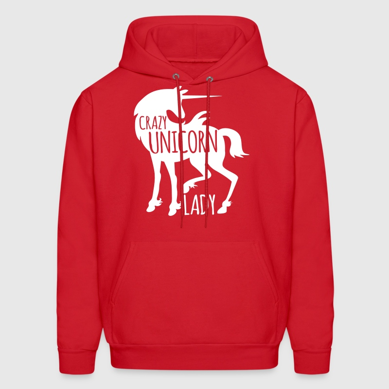 Crazy Unicorn lady - Men's Hoodie