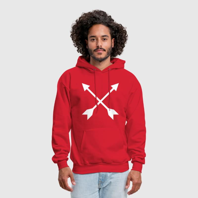 Hipster Crossed Arrows - Men's Hoodie