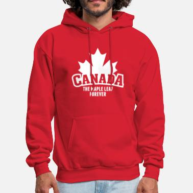 Leaf CANADA, THE MAPLE LEAF FOREVER - Men's Hoodie