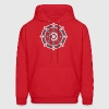 Dharmachakra, Darma Wheel of Law, Buddhist Symbol - Men's Hoodie