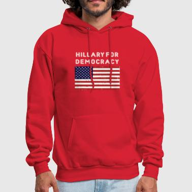Hillary For Democracy - Men's Hoodie