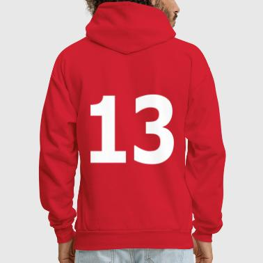 Team letter thirteen 13 - Men's Hoodie