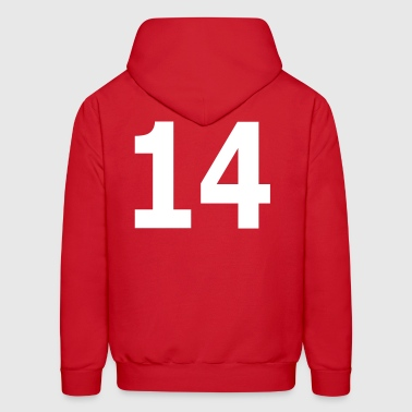 Team letter fourteen 14 - Men's Hoodie