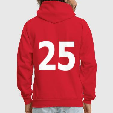 Team letter twenty five 25 - Men's Hoodie
