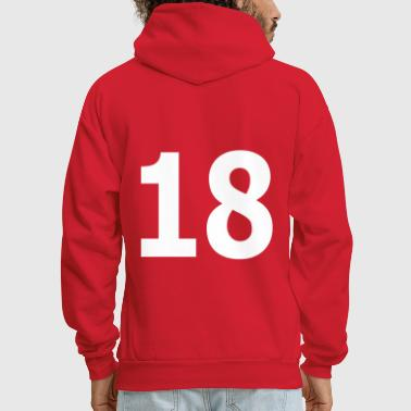 Team letter eighteen 18 - Men's Hoodie